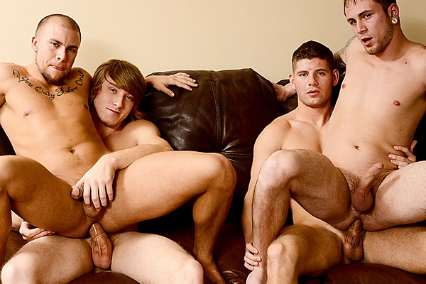A Sneak Peek of Tom Faulk & Connor Halstead fucking Eli Hunter & Jared Summers at Jizzorgy