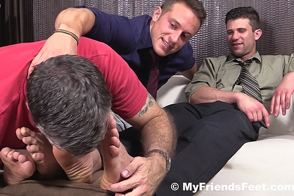 Handsome athletic jocks Cole Money & Kenny get their big sexy feet Worshiped at Myfriendsfeet
