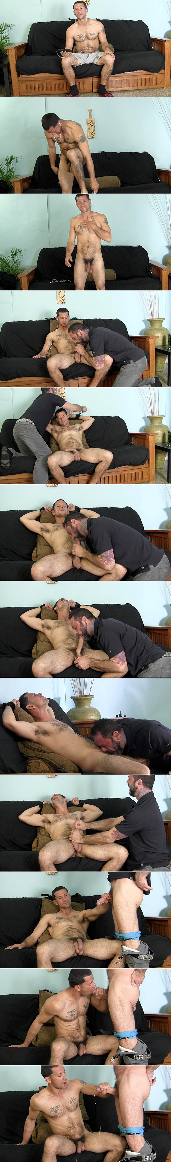 Well hung straight stud Victor sucks dick for the first time before he strokes amazing big loads out of Franco's big cock at Straightfraternity 02