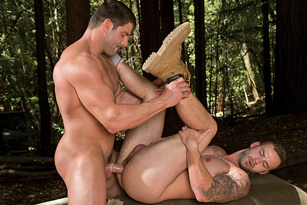 Handsome muscle hunk Jeremy Walker fucks the cum out of Chris Bines in Naughty Pines 2 at Falconstudios