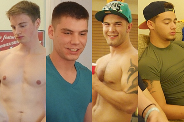 A hot new cast list of 20 Fraternityx models Alex, Blake, Brad, Bradley, Cadence, Chris, Cowboy, Jay, Josh, Kale, Lane, Liam, Marc, Nick, Owen, Ryan, Sage, Silas, Tony, Trevor at Fraternityx