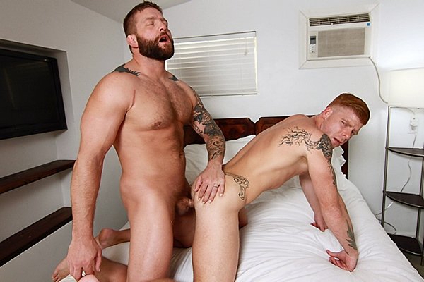 Colby Jansen fucks hot muscle jock Bennett Anthony's tight virgin ass in Bear Weekend Part 1 at Str8togay