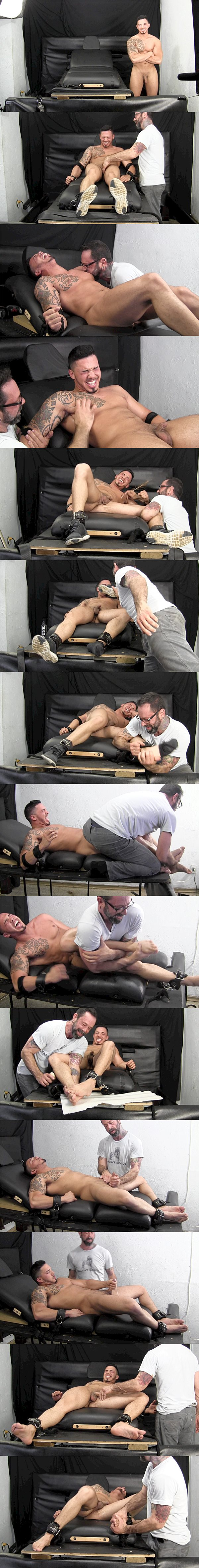 Masculine straight hunk Javy D gets tickled and jerked by master Franco before he shoots his milky loads at Tickledhard 02