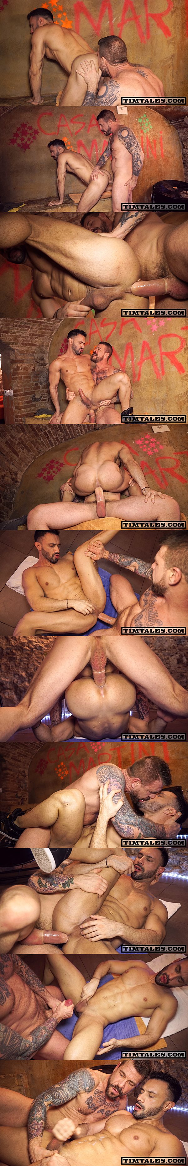 Big-dicked muscle daddy Rocco Steele slams handsome bodybuilder Flex's muscle ass at Timtales 02