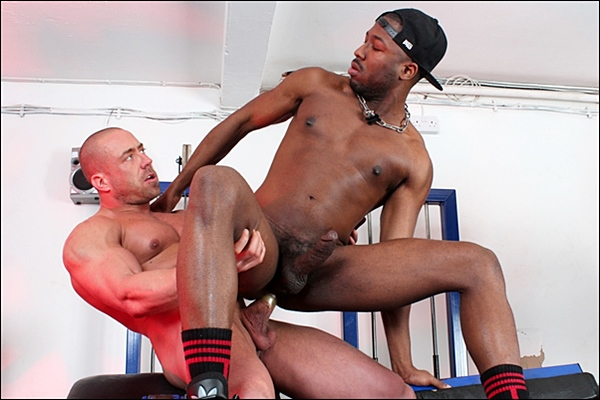 Wade Steel & JP Richards flip-fuck and Wade Steel gets his tight virgin ass popped up in Pumped Xtra Traning at Ukhotjocks
