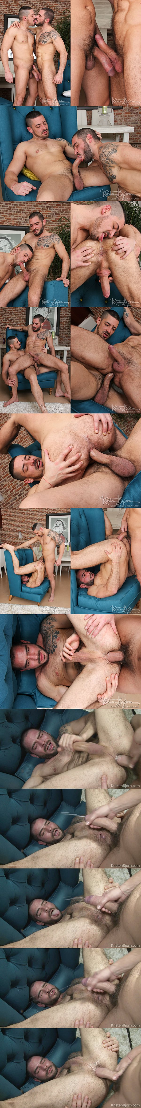 Karl Lion barebacks his real lover Cody Banx before he breeds Cody's worked hole in Casting Couch #342 at kristenbjorn 02