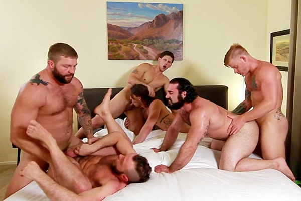 A Sneak Peek of Bennett Anthony, Colby Jansen & Roman Todd Fucking Gus Turner, Paul Canon & Jaxton Wheeler at Jizzorgy