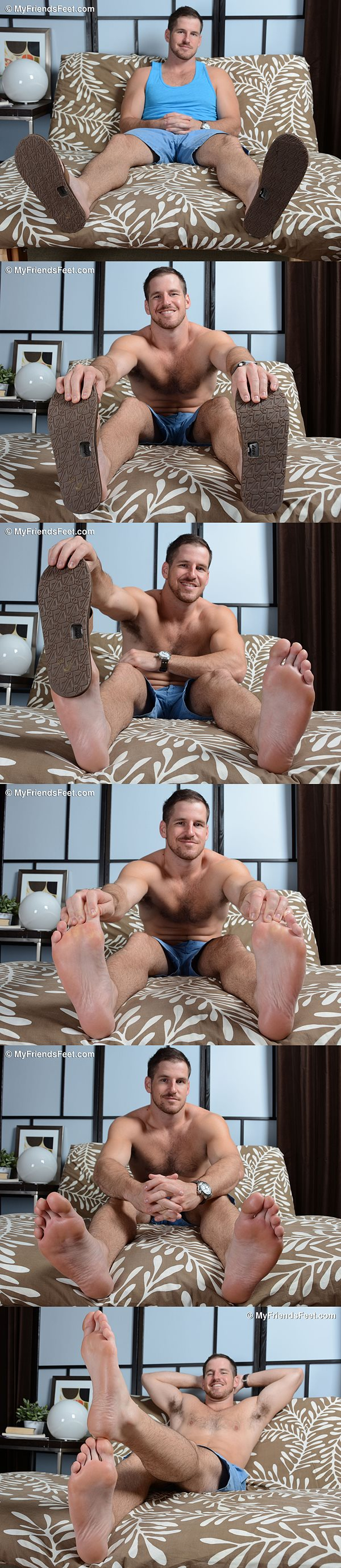 Sexy bearded hunk Chance Cruise at Myfriendsfeet