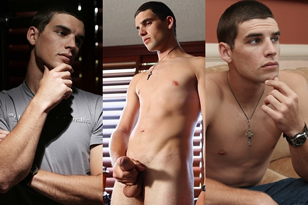 Super handsome straight lad Renn Walker shoots his hot cum in Fish and Vodka at Suburbanboys