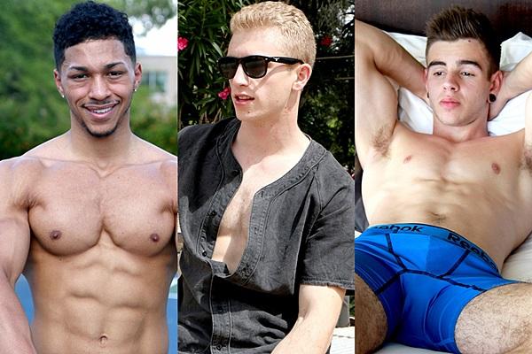 Hot new muscle jocks Andre, Davie, Kellan & Joel make porn debut and Sean Costin will fuck Leo Bosh, Clay Anker and Michael Evans in three new sex scenes at Gayhoopla