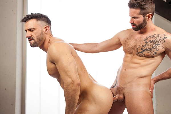 Hot muscle hunks Danni Robles & Flex flip-fuck until they shoot two big loads in Office Dreams Part 1 at Thegayoffice