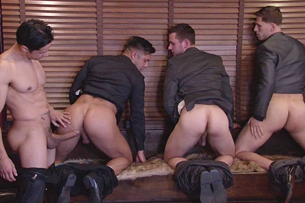 A Sneak Peek of Rafael Alencar & Roman Todd Fucking Brenner Bolton & Seth Santoro at Jizzorgy 01