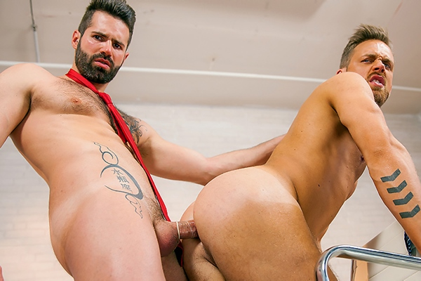 A Sneak Peek of Dani Robles & Logan Moore having a flip-flop at Thegayoffice