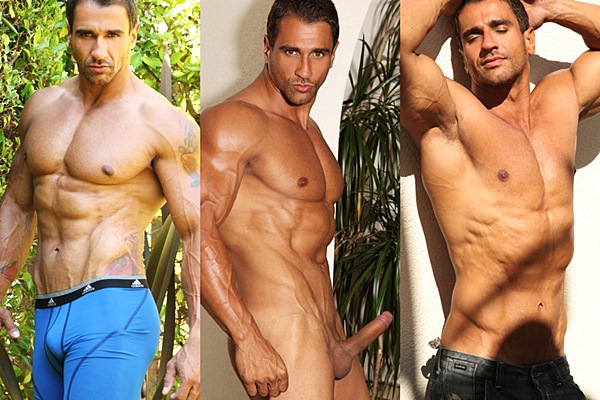 Super hot Brazilian muscle hunk Apollo shoots his huge thick loads at Paragonmen