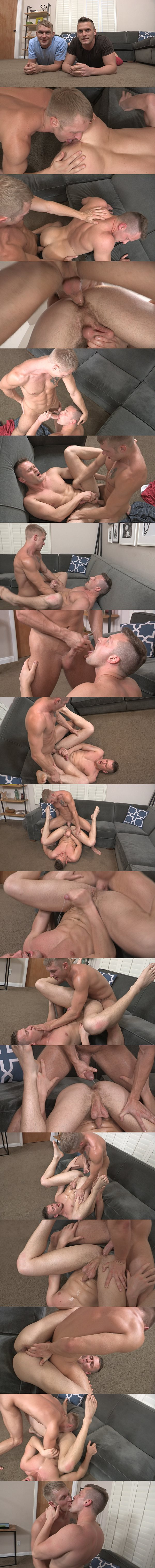 Pete barebacks hot newcomer Brendan's virgin ass before he fucks two hot loads out of Brendan and breeds Brendan at Seancody 02