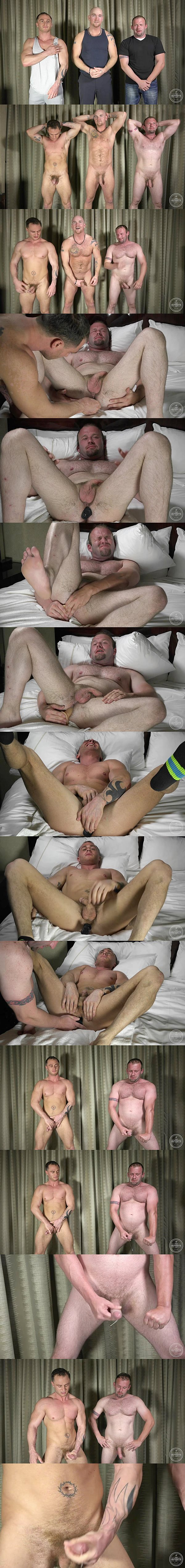 Hot straight guys Dom & Chance take butt plugs and dildo up their tight virgin asses before they shoot their hot cum at Theguysite 02