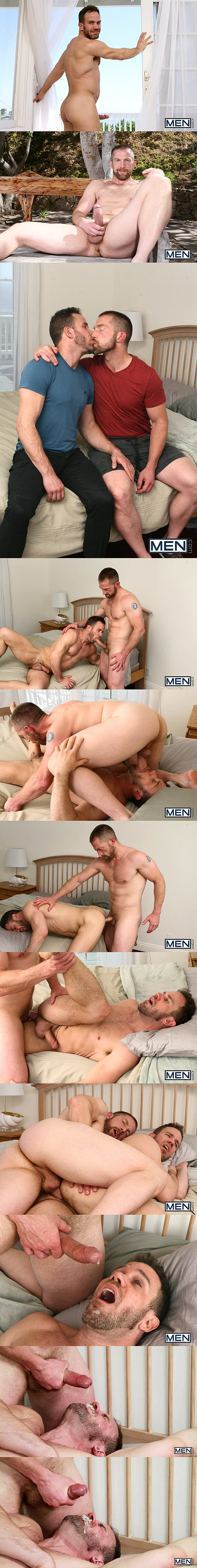 Adam Herst fucks hot macho daddy Ryan Wilcox's tight ass before he gives Ryan a big facial in Son Swap Part 4 at Drillmyhole 02