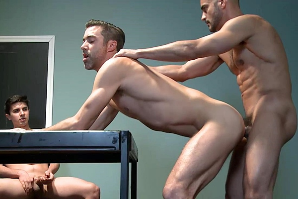 J.D. Ryder, Justin Beal and Tony Dazzle fuck each other in Joe Gage Sex Files Vol. #18 Runaway Sons Scene 2 at Raydragon