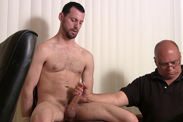 Handsome young man Jake gets edged and jerked until he shoots his hot creamy loads in Jake's Edging Audition at Slowteasinghandjobs