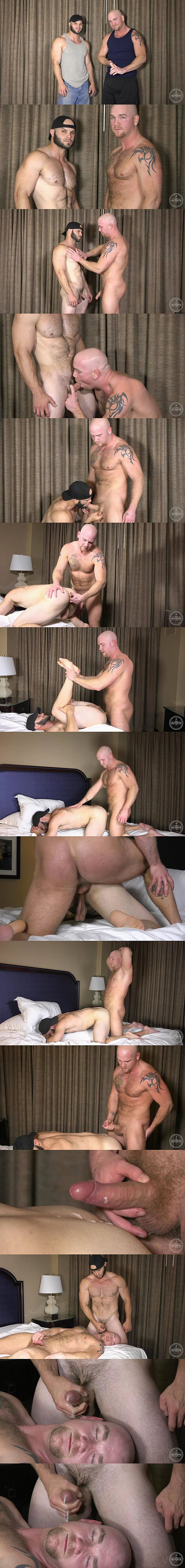 Junior fucks hot hairy hunk Johnny's tight ass until they shoot two creamy loads at Theguysite 02