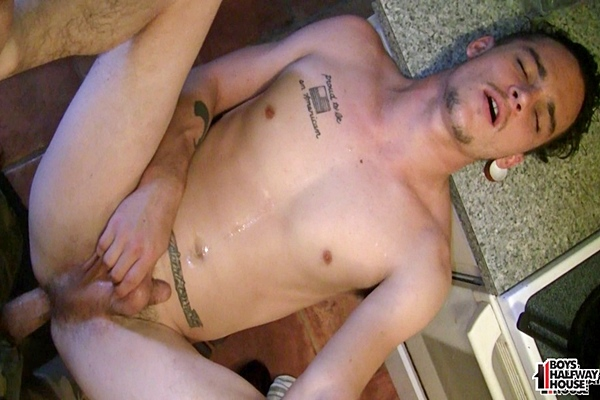 Hot soccer player Kip gets his tight ass barebacked before he gets a big facial in Bareback Recovery Session at Boyshalfwayhouse