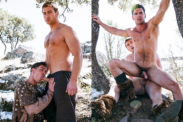 Connor Maguire & Paddy O'Brian flip-fuck and Paddy sucks dick for the first time in Gay Of Thrones Episode 5 at Drillmyhole