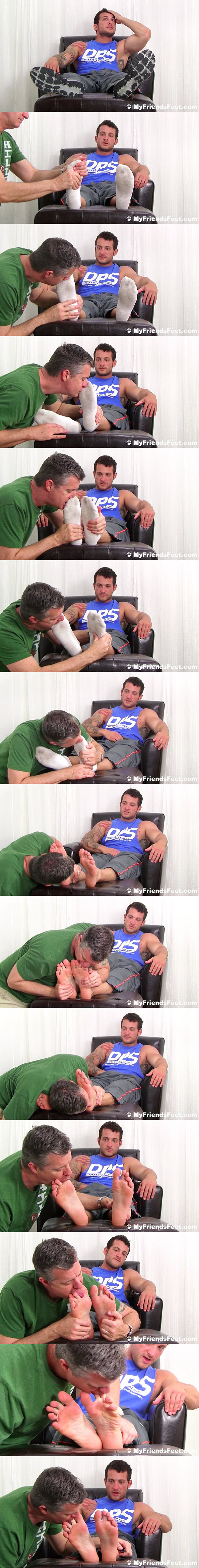 Masculine Marine stud Ned gets his size 10 feet worshiped at Myfriendsfeet 02