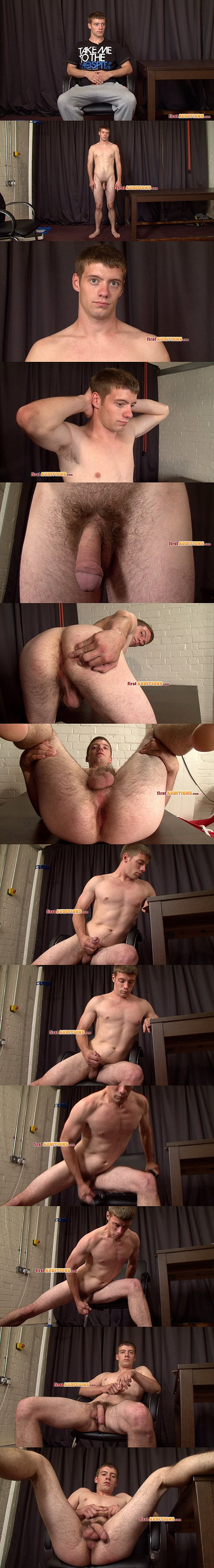 Super hot British dude Brendan shoot a thick load in Ejaculation Test & Physical Examination at Thecastingroom