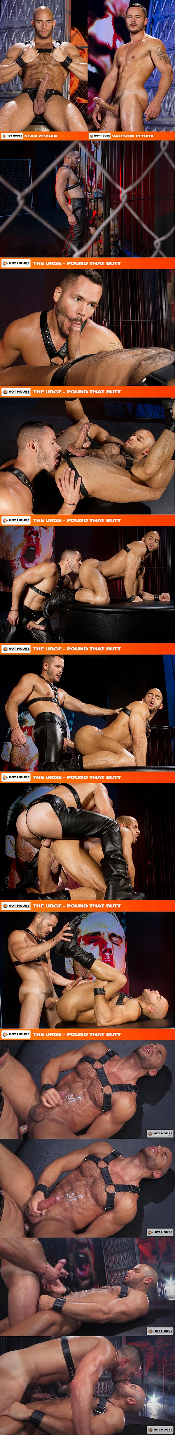 Valentin Petrov pounds Sean Zevran's hot muscle ass before he fucks a big thick load out of Sean in The Urge Pound That Butt at Hothouse 02