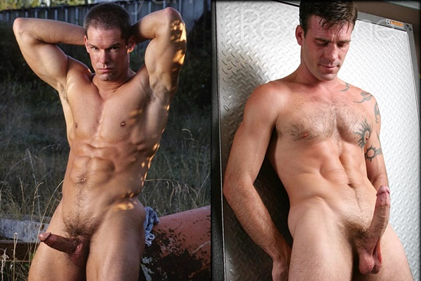 Handsome straight jocks Matt Ryan & Rex Paine jerk off at Legendmen