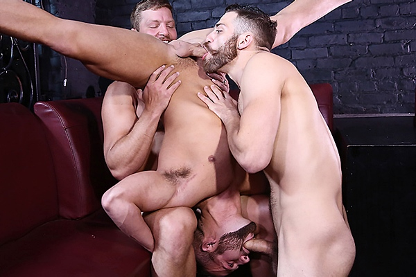 A Sneak Peek of Colby Jansen & Tommy Defendi fucking Luke Adams at Drillmyhole