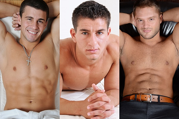 Hot muscle jocks Aldo, Christian Fitt and Tyrell tickled and foot worshiped at Myfriendsfeet