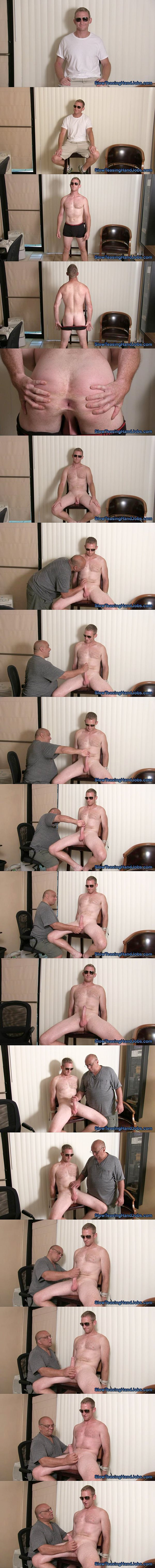 Hot macho hunk Garrett gets edged and jerked off in Garrett's Edging Audition at Slowteasinghandjobs 02