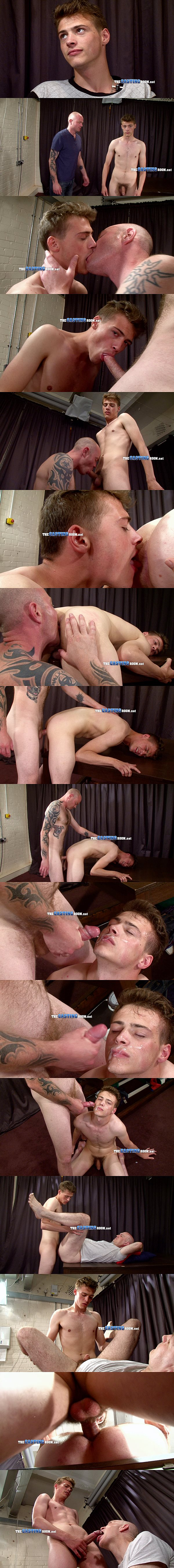 Dave fucks handsome hetero Will's tight virgin ass before he dumps his big load onto Will's face at Thecastingroom 02