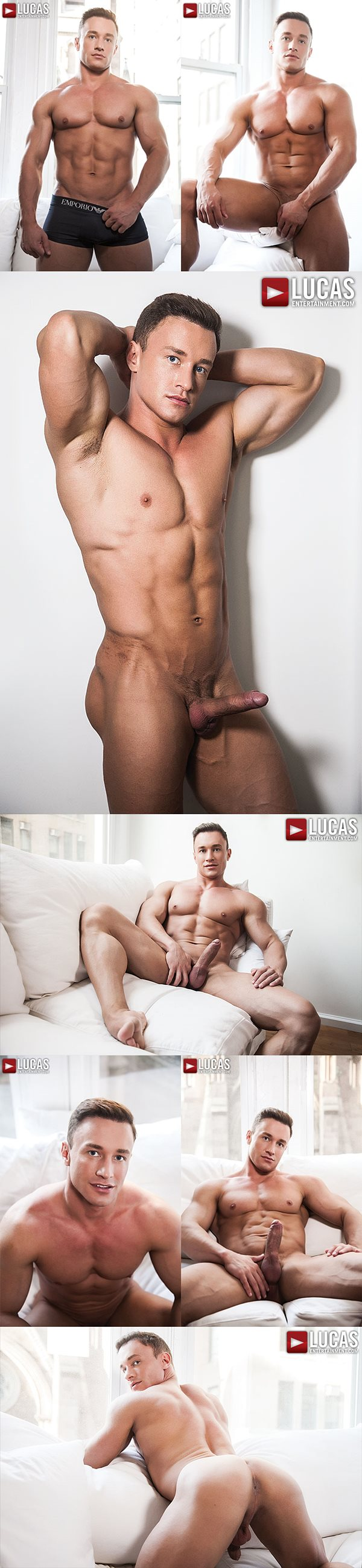 Handsome Russian muscle jock Alexander Volkov's bottoming debut at Lucasentertainment