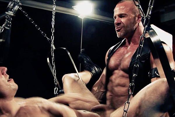Hot muscle daddy Jim Ferro pisses and barebacks BitchBritney in Fuck the Photographer at Darkalleyxt