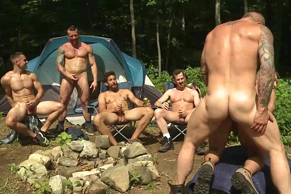 Rocco Steele, Hugh Hunter, Dale Cooper, Bryan Slater, JR Bronson & Brenner Bolton have a hot outdoor orgy in Rocco Steele's Urban Legend at Raydragon