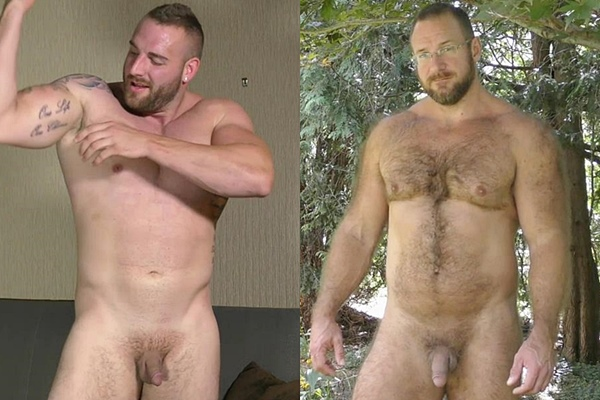 Hot muscle bears Rex and Zac Masterson shoot their hot loads at Theguysite