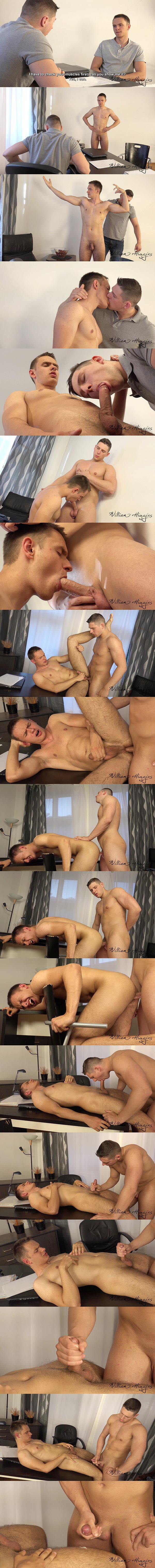 Aron Ros barebacks hot new jock Michal Dolezal's tight virgin ass at Williamhiggins 02