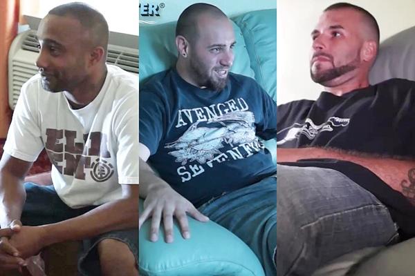 Hot macho guys Bastian, Dameon and Josh get sucked off at beefcakehunter