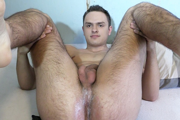 The cameraman barebacks handsome straight dude Michal Dolezal's tight ass in Debt Dandy 111 at Debtdandy