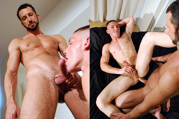 Macho daddy Andreas Cavalli fucks cute British lad Billy Roberts at Hardbritlads