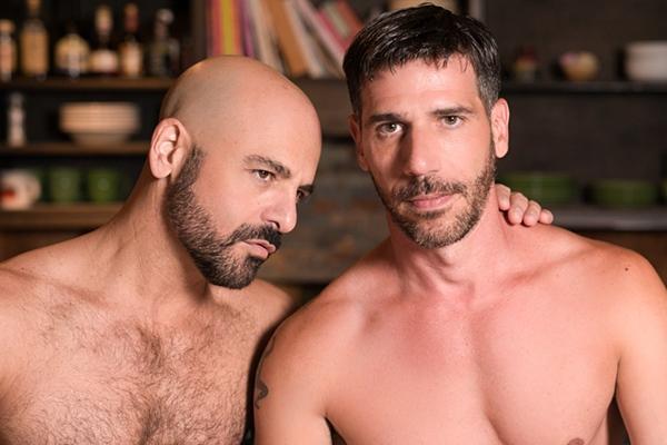 Adam Russo fucks hot macho daddy Tony Salerno's tight virgin ass in His Daughter's Boyfriend 2 at Iconmale