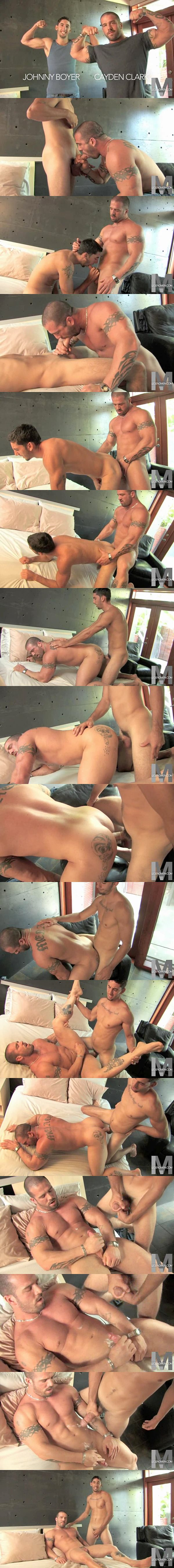 Hot muscle hunk Cayden Clark & Johnny Boyer flip-fuck at Legendmen 02