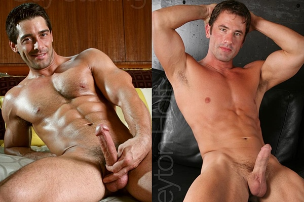 Guy Sterling & Peyton Holt shoot their big loads at Legendmen