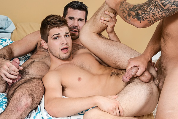 A Sneak Peek of Billy Santoro & Colby Jansen fucking Johnny Rapid at Drillmyhole