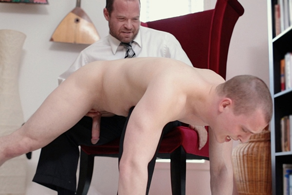President Woodruff fingers, spanks and wanks Elder Isaacs in Disciplinary Action at Mormonboyz