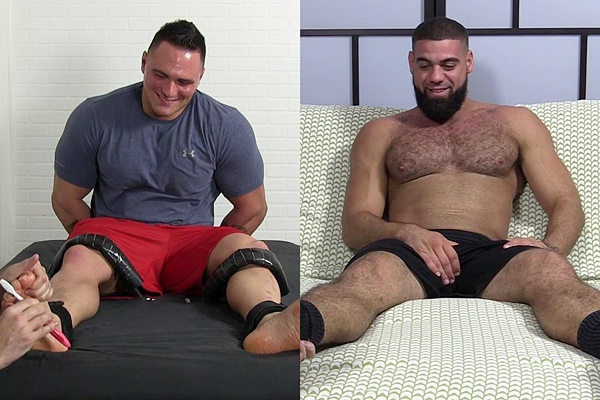 Karl tickled & Ricky Larkin foot worshiped at Myfriendsfeet