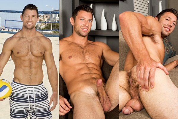 Sexy ripped muscle jock Shaw jerks two big loads out of his hard cock at Seancody