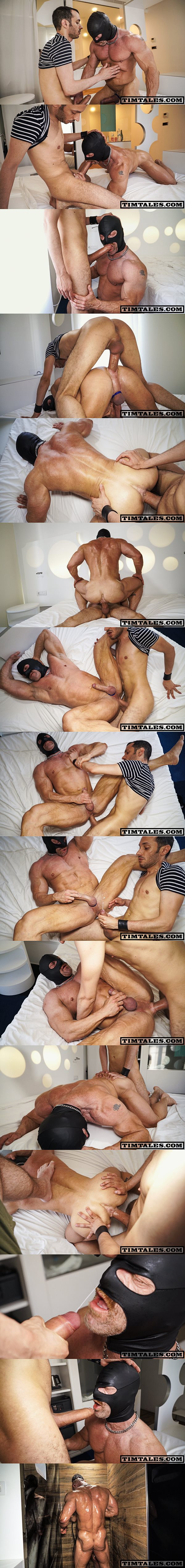 Monster-cocked Esteban barebacks muscle daddy Maximus until he breeds Maximus at Timtales 02
